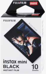 Fujifilm Instax Mini Black fotopapír, 10 ks