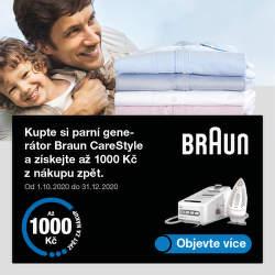 Cashback až 1 000 na parní generátory Braun