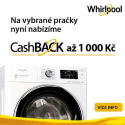 Cashback až 1 000 Kč na pračky Whirlpool