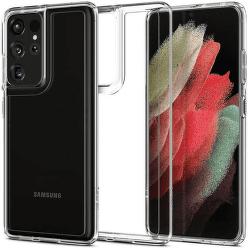 Spigen Ultra Hybrid pouzdro pro Samsung Galaxy S21 Ultra 5G transparentní