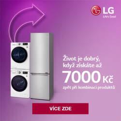 Cashback až 7 000 Kč na vybrané produkty LG