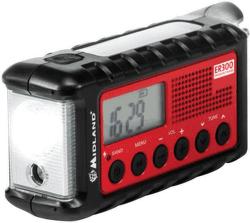 Midland ER 300 červeno-černé solární rádio
