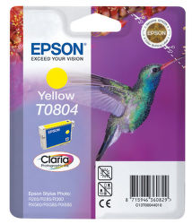 EPSON T0804 yellow  (kolibrík) - atrament