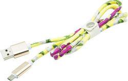 Mizoo X28-03m micro USB kabel, žlutá