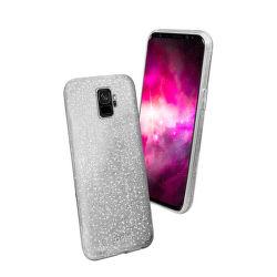 SBS Sparky Glitter pouzdro pro Samsung Galaxy S9, stříbrné