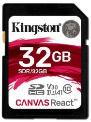 Kingston Canvas React SDHC U3 UHS-I 32 GB