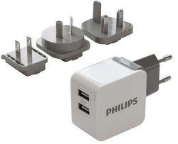 Philips DLP2220/10 bílá, USB cestovní nabíječka