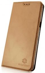 RedPoint Magnetic knížkové pouzdro pro Samsung Galaxy J3 2017, zlatá