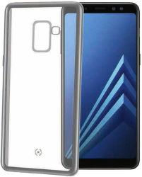 Celly Laser pouzdro pro Samsung Galaxy A8 2018, stříbrná