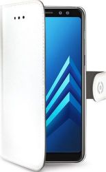 Celly Wally knížkové pouzdro pro Samsung Galaxy A8 2018, bílá