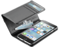 Cellular Line Wallet pouzdro pro iPhone 6/6S, černá
