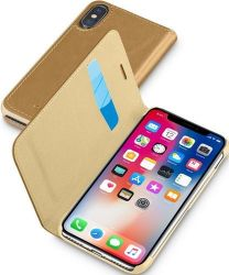 Cellular Line Book Essential pouzdro pro iPhone X, hnědá