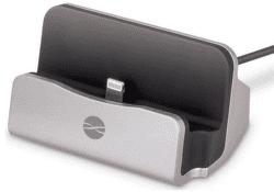 Forever dokovací stanice Lightning pro iPhone 5 a 6, stříbrná