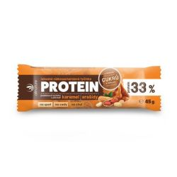 Allnature karamel+arašídy 33% proteinová tyčinka 45g