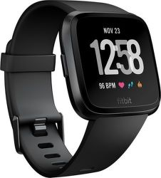 Fitbit Versa Black/Black Aluminum vystavený kus splnou zárukou