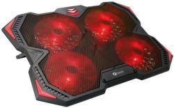 """C-TECH Zefyros - Chladící podložka pod notebook 17,3"""" červená"""