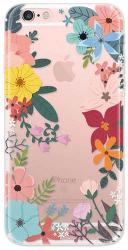 4-OK Cover 4U Flower pouzdro pro iPhone 6/6S, motiv květů