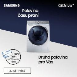 Zkraťte dobu praní s technologií Samsung Quick Drive - navíc 10% z ceny zpět na věrnostní kartu