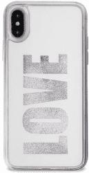 "Puro zadní kryt AQUA ""Love"" pro Apple iPhone X, bílé"