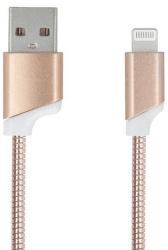 Forever Lightning/USB kábel, růžovo zlatá