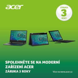 3 roky záruka na vybrané notebooky Acer