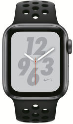 Apple Watch Series 4 Nike+ 40mm vesmírně šedý hliník/antracitový/černý sportovní řemínek Nike vystavený kus splnou zárukou
