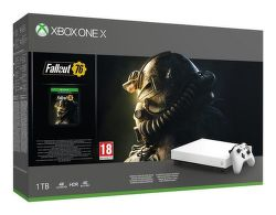 Microsoft Xbox One X 1TB + Fallout 76 Robot White Special Edition