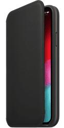 Apple kožené pouzdro Folio pro Apple iPhone XS, černá