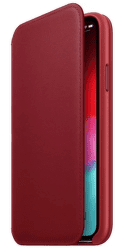 Apple kožené pouzdro Folio pro Apple iPhone XS, (PRODUCT)RED