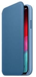 Apple kožené pouzdro Folio pro Apple iPhone XS, modrošedá