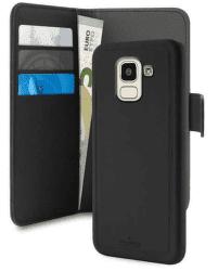 Puro Wallet knížkové pouzdro pro Samsung Galaxy J6, černá