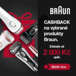 Cashback až 2 000 Kč na vybrané produkty Braun