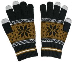 Aligator Nordic pánské rukavice na displej, hnědé