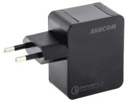 Avacom HomeMax QC 3.0 USB nabíječka, černá