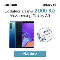 Dodatečná sleva 2 000 Kč na Samsung Galaxy A9