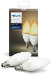 Philips Hue White Ambiance E14 6W B39 2 ks