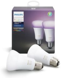 Philips Hue White and color Ambiace E27 10W A19 2ks