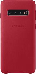 Samsung Leather Cover pro Samsung Galaxy S10, červená