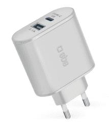 SBS USB/USB-C adaptér 30 W, bílá