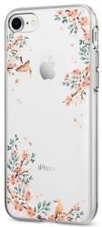 Spigen Liquid Crystal pouzdo pro iPhone 7/8, květiny