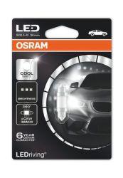 OSRAM SV8.5-8 LEDriving 36mm, 12V 1W Autožárovka