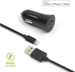 Fixed USB 2,4 A černá Lightning kabel