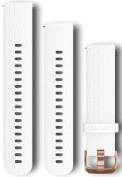 Garmin Quick Release 20mm řemínek bílý se zlatou přezkou