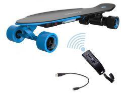 YUNEEC E-GO2, E-Longboard, modrý