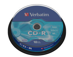 VERBATIM CD-R 700MB, 52X 10dB