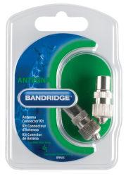 Bandridge BPP655 Anténní konektor + zásuvka, poniklované