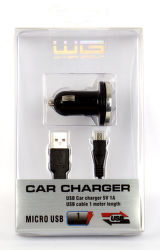 Winner autonabíječka USB (1A) + datový kabel micro-USB