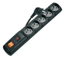 Emos P53872 - Přepěťová ochrana, 5 zásuvek, 3m (černá)