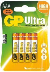 GP Ultra 24AU AAA (LR03), 6+2ks