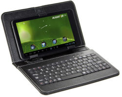 """Pouzdro na 9"""" tablet s klávesnicí microUSB (černé)"""